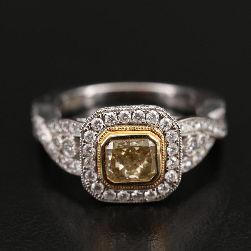 14K 2.30 CTW Diamond Halo Ring