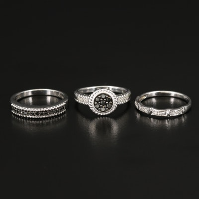 Sterling Diamond Ring and Bands