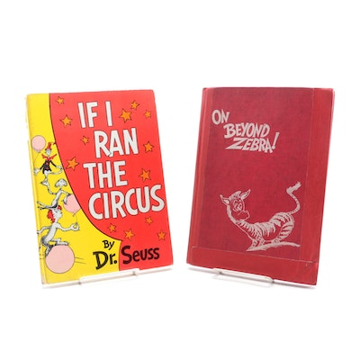 """""""On Beyond Zebra!"""" and """"If I Ran the circus"""" by Dr. Seuss, Mid-20th Century"""