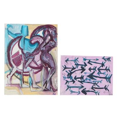 Patrick McCafferty Acrylic Paintings, 2021