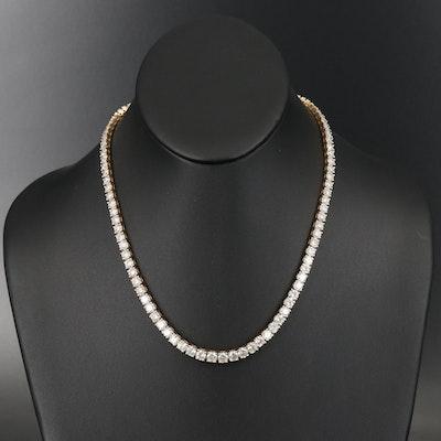 14K 32.21 CTW Diamond Rivière Necklace