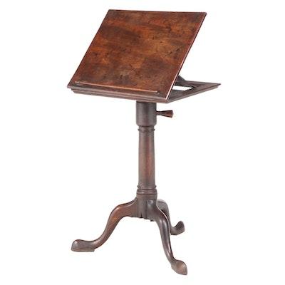 George II Mahogany Adjustable Reading Stand, Mid-18th Century