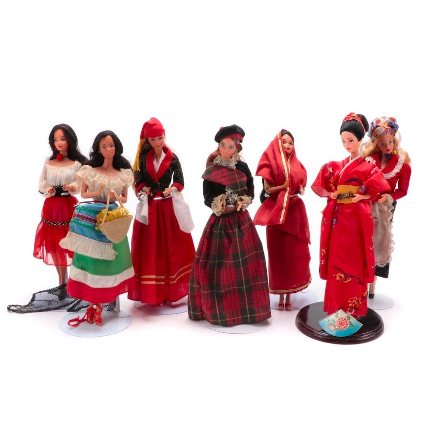 "Mattel Barbie Dolls ""Hispanic Barbie 1979"", ""Greek Barbie 1985"", Others"