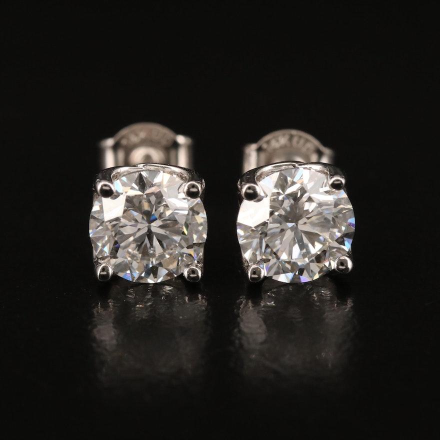 14K 3.02 CTW Diamond Stud Earrings