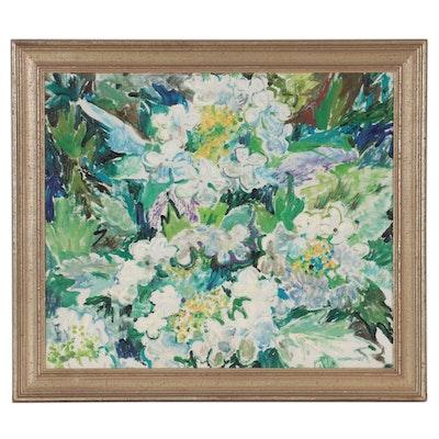 "Lillemor Tell Floral Oil Painting ""Fleurs No. 70"""