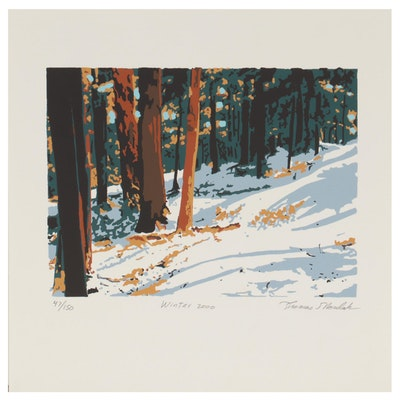 "Thomas Norulak Serigraph ""Winter 2000"""