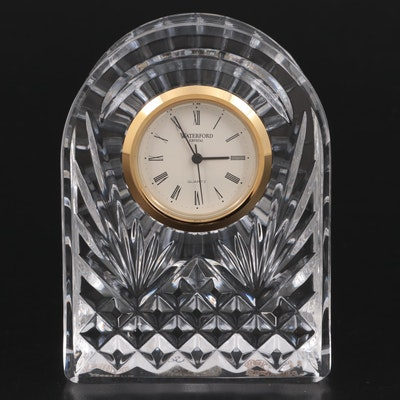Waterford Crystal Quartz Desk Clock, Late 20th Century