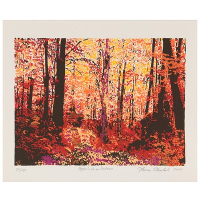 "Thomas Norulak Serigraph ""Appalachian Autumn,"" 2004"
