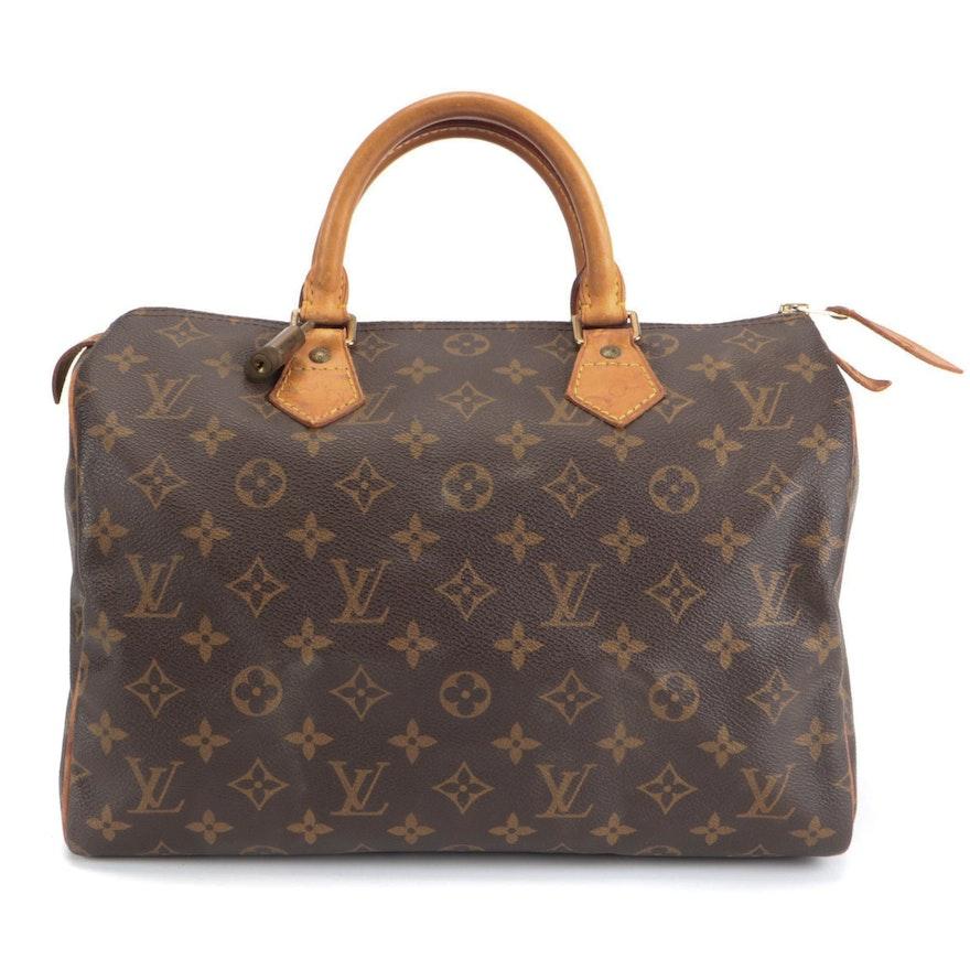 Louis Vuitton Speedy 30 Bag in Monogram Canvas