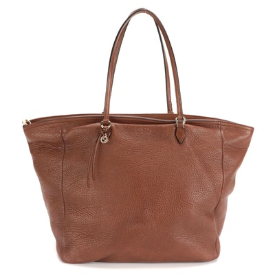 Gucci Tote Bag in Brown Grained Leather