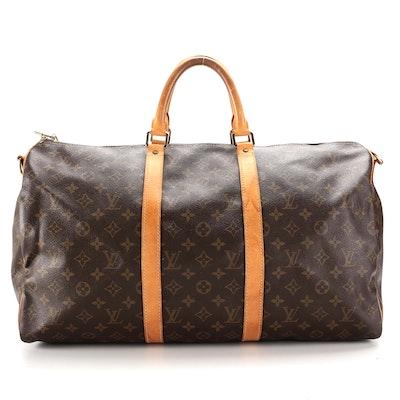 Louis Vuitton Keepall Bandouliere 50 Duffel Bag in Monogram Canvas