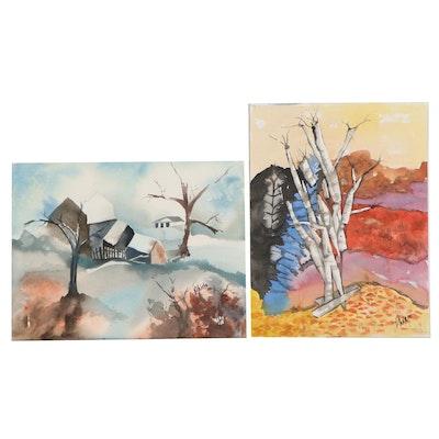 Phiris Sickels Landscape Watercolor Paintings