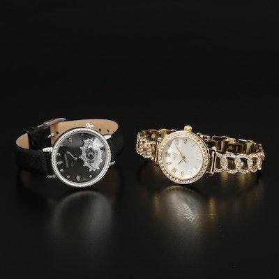 "Judith Ripka ""Evil Eye"" and Diamonique ""Pavé Bracelet"" Wristwatches"