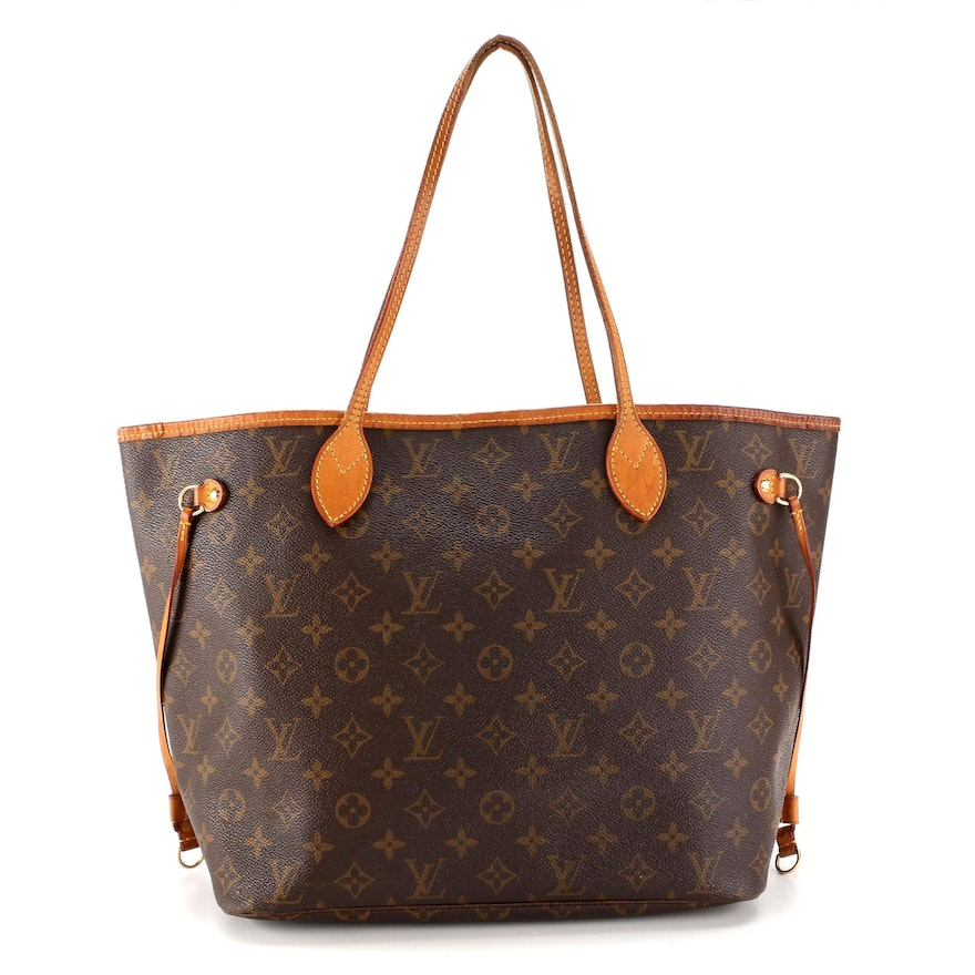 Louis Vuitton Neverfull MM in Monogram Canvas and Vachetta Leather