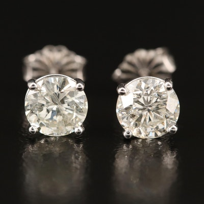 14K 2.01 CTW Martini Set Diamond Stud Earrings