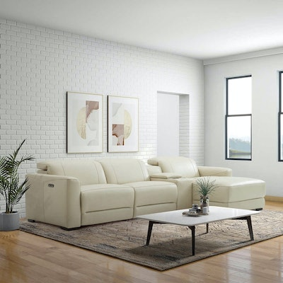 """Gilman Creek Furniture """"Tampa"""" Leather Power Reclining Sectional"""