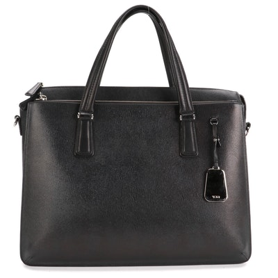 Tumi Sinclair Nina Commuter Laptop Briefcase in Coated Canvas with Leather Trim