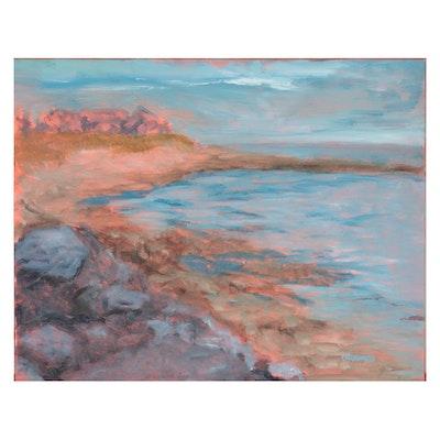 """Vince Ornato Oil Painting """"New England Coastline,"""" 2021"""