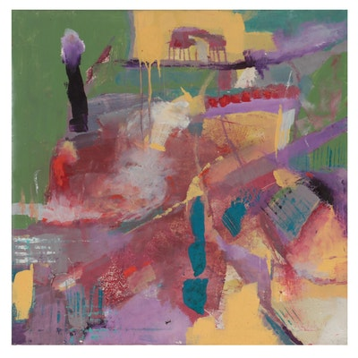 Janice Schuler Abstract Mixed Media Painting, 2012