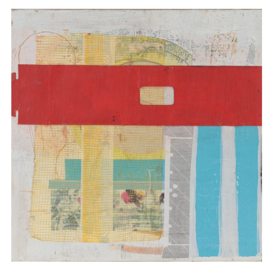 Rachel Hallas Abstract Mixed Media Collage, 2017