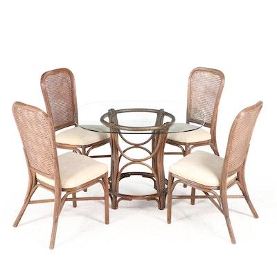 Five-Piece Alexvale Furniture Inc. Bamboo Dining Set, Late 20th Century