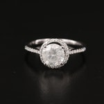 14K 1.34 CTW Diamond Halo Ring