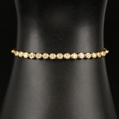 EFFY 14K YELLOW GOLD DIAMOND BRACELET