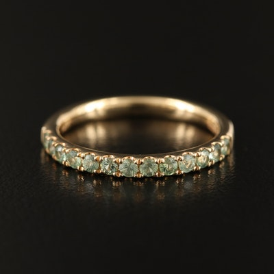 EFFY 14K YELLOW GOLD GREEN SAPPHIRE RING