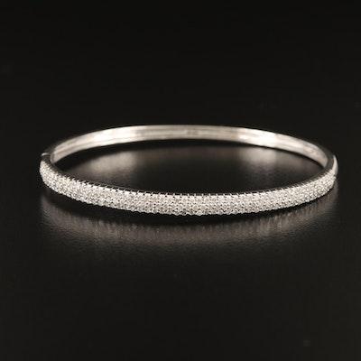 EFFY 14K WHITE GOLD DIAMOND BANGLE