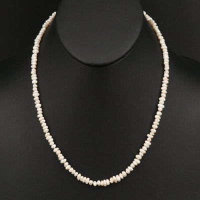 Baroque Pearl Necklace with 14K Gold