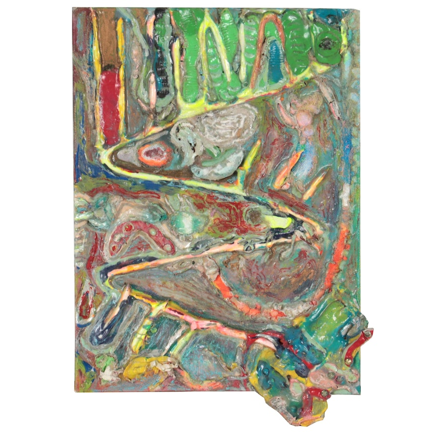 Janice Schuler Abstract Mixed Media Painting