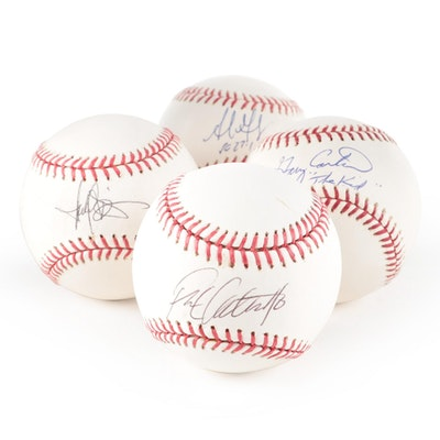 Gary Carter, Adrian Gonzalez, Frank Catalanotto, and Other Signed Baseballs