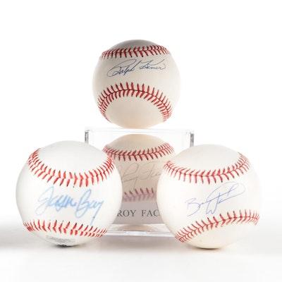 Ralph Kiner, Elroy Face, Jason Bay, and Brandon Wood Rawlings Signed Baseballs