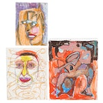 Janice Schuler Abstract Pastel Drawings
