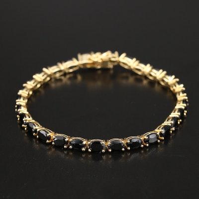 Sterling Silver Spinel Line Bracelet