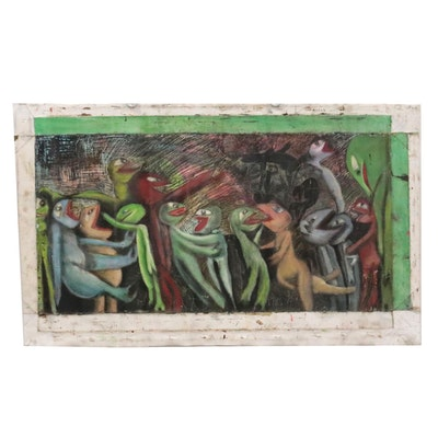 Janice Schuler Figural Oil Painting, Late 20th to 21st Century
