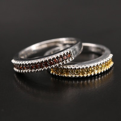 Sterling Diamond Bands