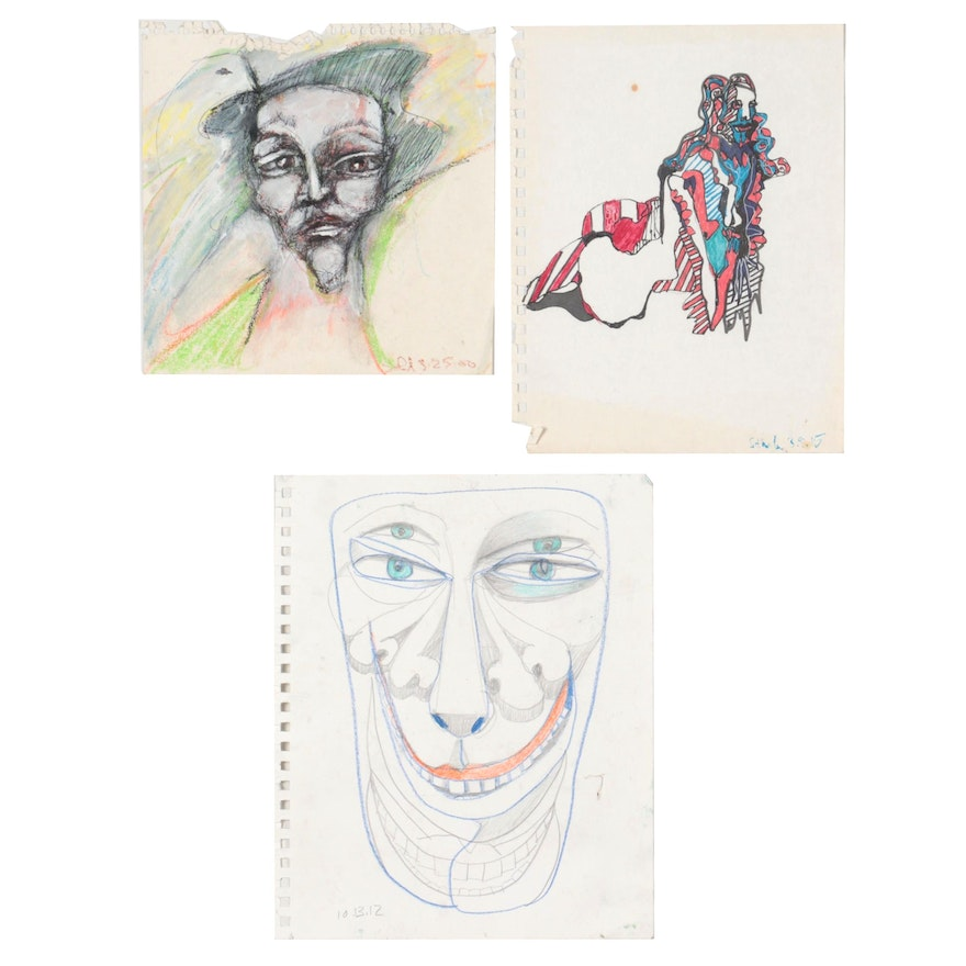 Janice Schuler Abstract Mixed Media Drawings