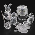 "Swarovski ""Owlet"", ""Baby Snails"" and Other Animal Figurines"