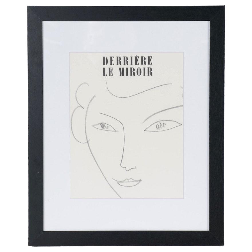 """Henri Matisse Lithograph Cover for """"Derrière le Miroir,"""" 1951"""