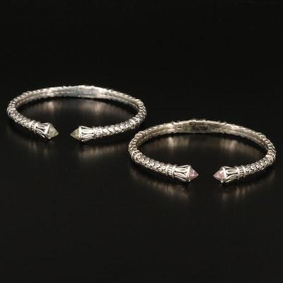 SeidenGang Sterling Silver Quartz Cuffs