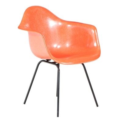 Eames for Herman Miller Mid Century Modern Fiberglass and Steel Armchair