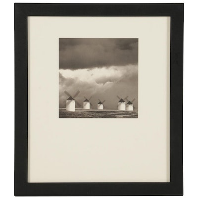 """Michael Kenna Photogravure """"Quixote's Giants, Study 2"""" for """"21st Editions,"""" 1998"""