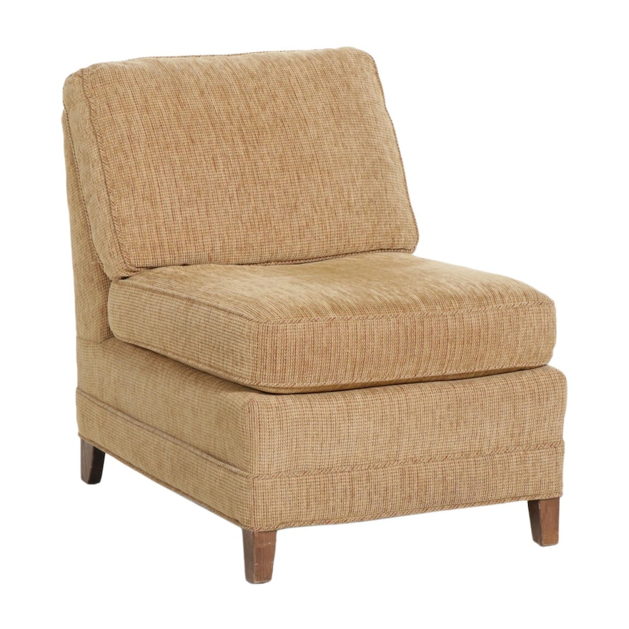 Upholstered Slipper Chair, Mid to Late 20th Century