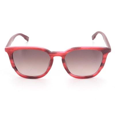 Hugo Boss HG 0300/S Red Horn-Rimmed Sunglasses with Case