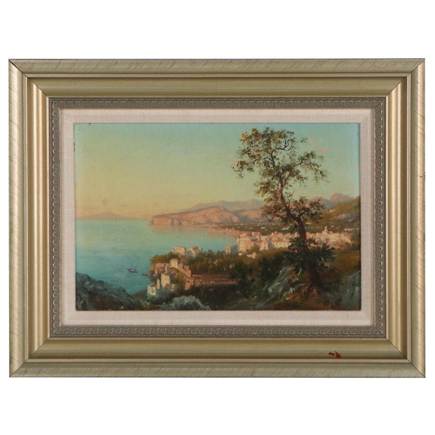 Domenico Ammirato Italian Landscape Oil Painting, 1883