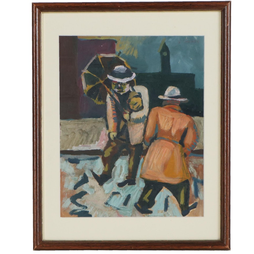 Gregory Gorby Figural Oil Painting, Late 20th Century