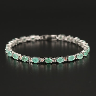 Sterling Emerald and Sapphire Bracelet