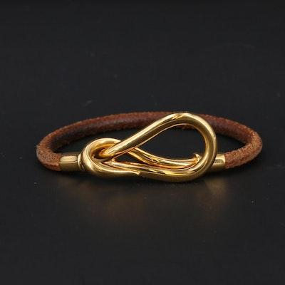 Hermès Leather Jumbo Hook Bracelet
