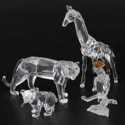 """Swarovski """"Cockatoo"""", """"Grizzly Cub"""" and Other Crystal Animal Figurines"""